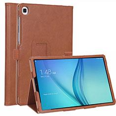 Coque Portefeuille Livre Cuir Etui Clapet L01 pour Samsung Galaxy Tab S5e 4G 10.5 SM-T725 Marron