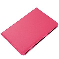Coque Portefeuille Livre Cuir Etui Clapet L01 pour Samsung Galaxy Tab S6 Lite 4G 10.4 SM-P615 Rose Rouge