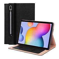Coque Portefeuille Livre Cuir Etui Clapet L01 pour Samsung Galaxy Tab S7 4G 11 SM-T875 Noir