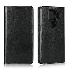 Coque Portefeuille Livre Cuir Etui Clapet L01 pour Sharp AQUOS Sense4 Plus Noir