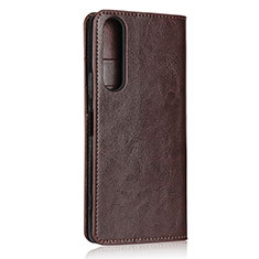 Coque Portefeuille Livre Cuir Etui Clapet L01 pour Sony Xperia 1 II Marron