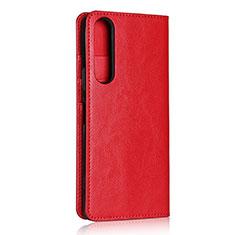 Coque Portefeuille Livre Cuir Etui Clapet L01 pour Sony Xperia 1 II Rouge