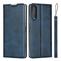 Coque Portefeuille Livre Cuir Etui Clapet L01 pour Sony Xperia 10 II Bleu