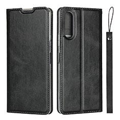 Coque Portefeuille Livre Cuir Etui Clapet L01 pour Sony Xperia 10 II Noir