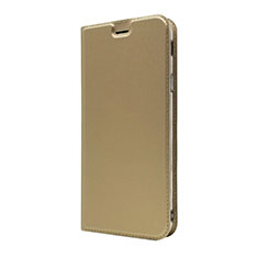 Coque Portefeuille Livre Cuir Etui Clapet L01 pour Sony Xperia 10 Or