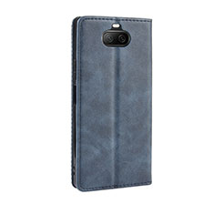 Coque Portefeuille Livre Cuir Etui Clapet L01 pour Sony Xperia 8 Lite Bleu
