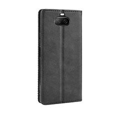 Coque Portefeuille Livre Cuir Etui Clapet L01 pour Sony Xperia 8 Noir
