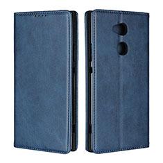 Coque Portefeuille Livre Cuir Etui Clapet L01 pour Sony Xperia XA2 Ultra Bleu