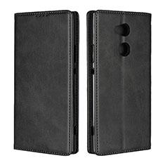 Coque Portefeuille Livre Cuir Etui Clapet L01 pour Sony Xperia XA2 Ultra Noir