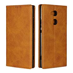 Coque Portefeuille Livre Cuir Etui Clapet L01 pour Sony Xperia XA2 Ultra Orange