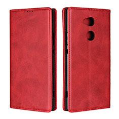Coque Portefeuille Livre Cuir Etui Clapet L01 pour Sony Xperia XA2 Ultra Rouge