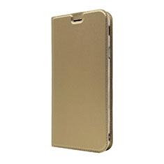 Coque Portefeuille Livre Cuir Etui Clapet L01 pour Sony Xperia XA3 Or