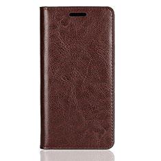 Coque Portefeuille Livre Cuir Etui Clapet L01 pour Sony Xperia XZ2 Compact Marron