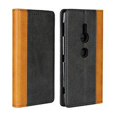 Coque Portefeuille Livre Cuir Etui Clapet L01 pour Sony Xperia XZ2 Noir