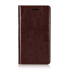 Coque Portefeuille Livre Cuir Etui Clapet L01 pour Sony Xperia XZ2 Premium Marron