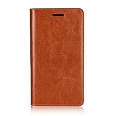 Coque Portefeuille Livre Cuir Etui Clapet L01 pour Sony Xperia XZ2 Premium Orange