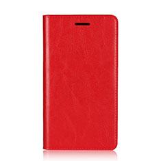 Coque Portefeuille Livre Cuir Etui Clapet L01 pour Sony Xperia XZ2 Premium Rouge