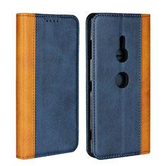 Coque Portefeuille Livre Cuir Etui Clapet L01 pour Sony Xperia XZ3 Bleu