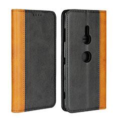 Coque Portefeuille Livre Cuir Etui Clapet L01 pour Sony Xperia XZ3 Noir