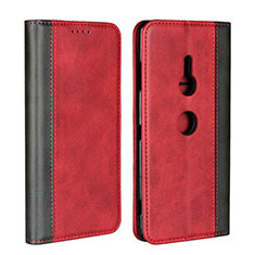 Coque Portefeuille Livre Cuir Etui Clapet L01 pour Sony Xperia XZ3 Rouge