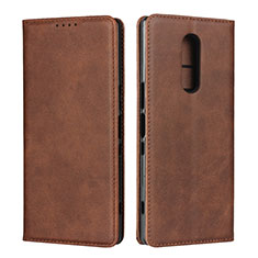 Coque Portefeuille Livre Cuir Etui Clapet L01 pour Sony Xperia XZ4 Marron