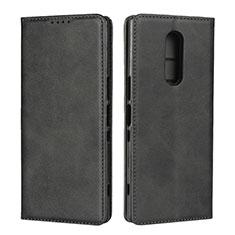 Coque Portefeuille Livre Cuir Etui Clapet L01 pour Sony Xperia XZ4 Noir