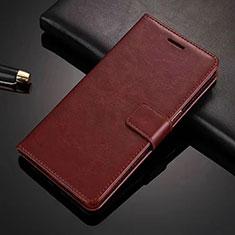 Coque Portefeuille Livre Cuir Etui Clapet L01 pour Vivo S1 Pro Marron