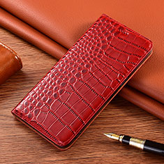 Coque Portefeuille Livre Cuir Etui Clapet L01 pour Vivo X50e 5G Rouge