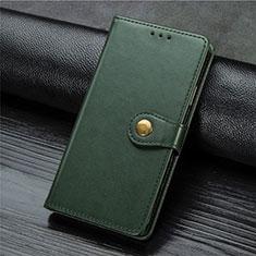 Coque Portefeuille Livre Cuir Etui Clapet L01 pour Xiaomi Mi Note 10 Lite Vert