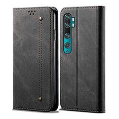 Coque Portefeuille Livre Cuir Etui Clapet L01 pour Xiaomi Mi Note 10 Noir
