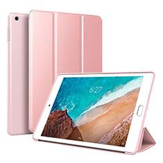Coque Portefeuille Livre Cuir Etui Clapet L01 pour Xiaomi Mi Pad 4 Or Rose