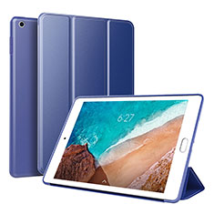 Coque Portefeuille Livre Cuir Etui Clapet L01 pour Xiaomi Mi Pad 4 Plus 10.1 Bleu