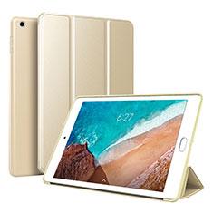 Coque Portefeuille Livre Cuir Etui Clapet L01 pour Xiaomi Mi Pad 4 Plus 10.1 Or