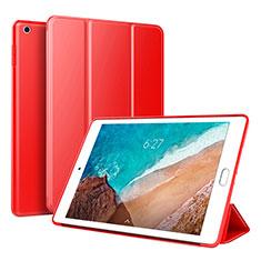 Coque Portefeuille Livre Cuir Etui Clapet L01 pour Xiaomi Mi Pad 4 Plus 10.1 Rouge