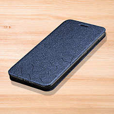 Coque Portefeuille Livre Cuir Etui Clapet L01 pour Xiaomi Redmi Note 7 Bleu