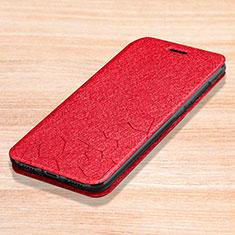 Coque Portefeuille Livre Cuir Etui Clapet L01 pour Xiaomi Redmi Note 7 Rouge
