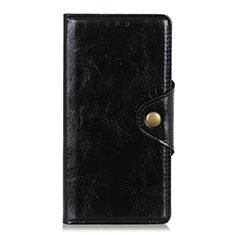 Coque Portefeuille Livre Cuir Etui Clapet L01 pour Xiaomi Redmi Note 9 Pro Noir