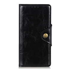 Coque Portefeuille Livre Cuir Etui Clapet L01 pour Xiaomi Redmi Note 9S Noir