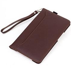 Coque Portefeuille Livre Cuir Etui Clapet L02 pour Amazon Kindle 6 inch Marron