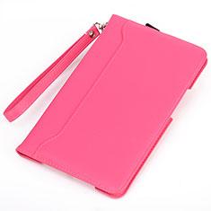Coque Portefeuille Livre Cuir Etui Clapet L02 pour Amazon Kindle 6 inch Rose Rouge