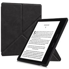 Coque Portefeuille Livre Cuir Etui Clapet L02 pour Amazon Kindle Oasis 7 inch Noir