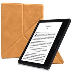 Coque Portefeuille Livre Cuir Etui Clapet L02 pour Amazon Kindle Oasis 7 inch Orange