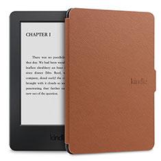 Coque Portefeuille Livre Cuir Etui Clapet L02 pour Amazon Kindle Paperwhite 6 inch Marron