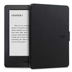 Coque Portefeuille Livre Cuir Etui Clapet L02 pour Amazon Kindle Paperwhite 6 inch Noir