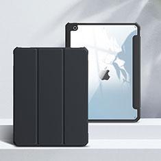 Coque Portefeuille Livre Cuir Etui Clapet L02 pour Apple iPad 10.2 (2020) Noir