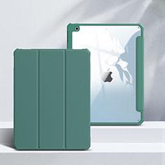 Coque Portefeuille Livre Cuir Etui Clapet L02 pour Apple iPad 10.2 (2020) Vert