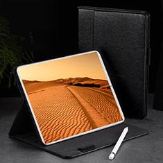 Coque Portefeuille Livre Cuir Etui Clapet L02 pour Apple iPad Pro 11 (2018) Noir