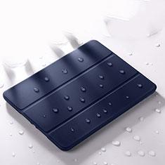 Coque Portefeuille Livre Cuir Etui Clapet L02 pour Apple iPad Pro 12.9 (2020) Bleu