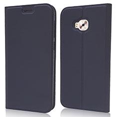 Coque Portefeuille Livre Cuir Etui Clapet L02 pour Asus Zenfone 4 Selfie Pro Bleu