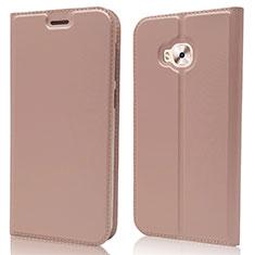 Coque Portefeuille Livre Cuir Etui Clapet L02 pour Asus Zenfone 4 Selfie Pro Or Rose